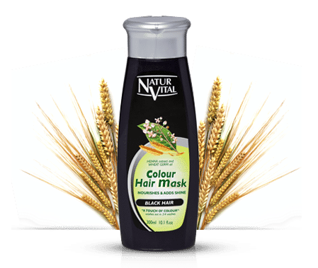 Natur Vital Colour Hair Mask BLACK - NaturVital Hair Care Products. NaturesWell UK - Ireland - Gives your hair a 5 minute colour Boost