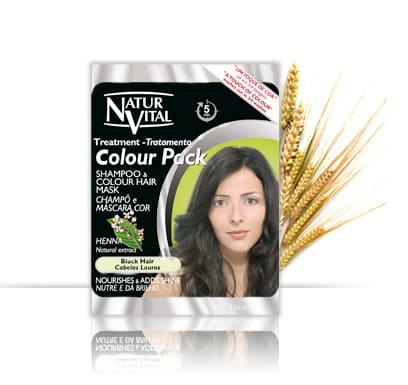 Natur Vital Colour Pack BLACK - NaturVital Hair Care Products. NaturesWell UK - Ireland - A rich natural Black top up colour and shampoo