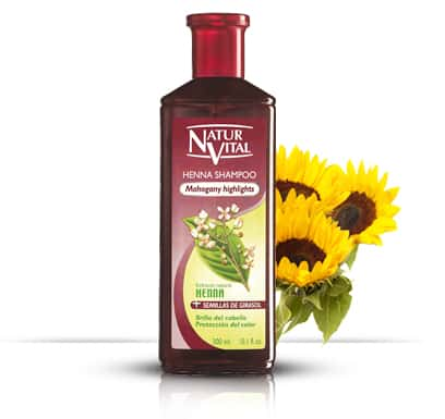 Henna Shampoo for coloured hair MAHOGANY - NaturVital Hair Care Products. NaturesWell UK - Ireland