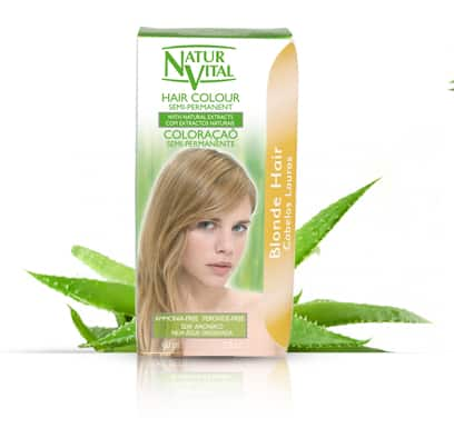 Natur Vital Semi-Permanent BLONDE - NaturVital Hair Care Products. NaturesWell UK - Ireland - Bright Blonde colour ,covers Grey