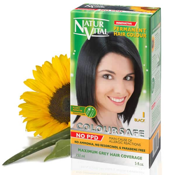 Ppd Free Hair Dye Naturvital Coloursafe Black No 1 No