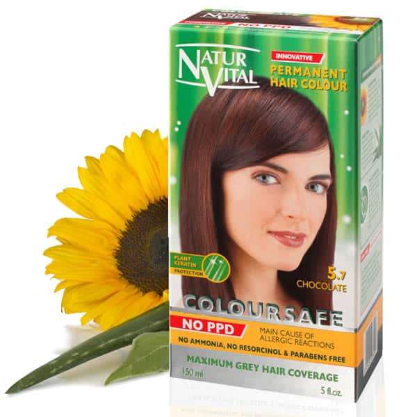 Ppd Free Hair Dye Naturvital Coloursafe Chocolate No 5 7