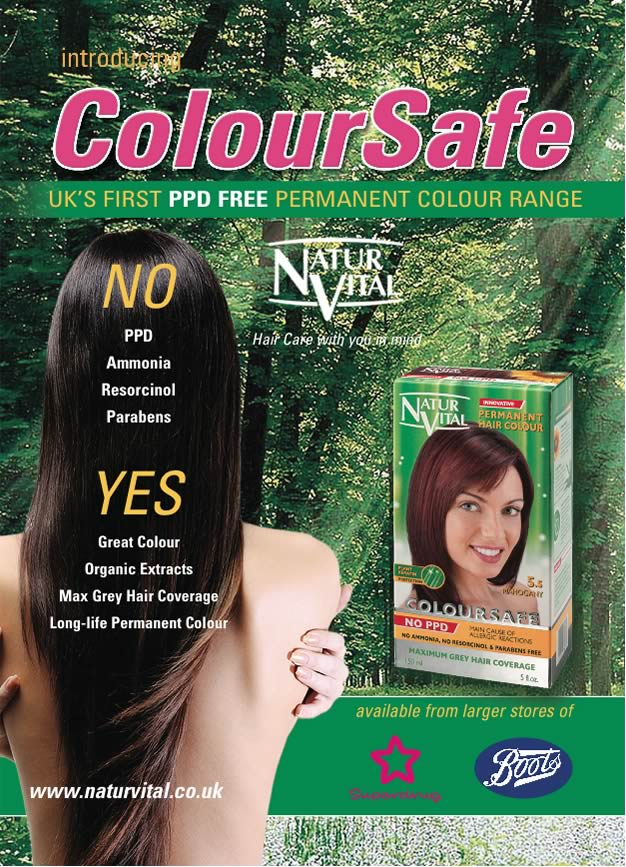 Ppd Free Coloursafe Blonde No 7 Hair Dye Naturvital