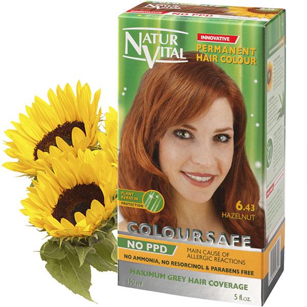 PPD Free ColourSafe Hazelnut No. 6.43 Hair Dye   NaturVital