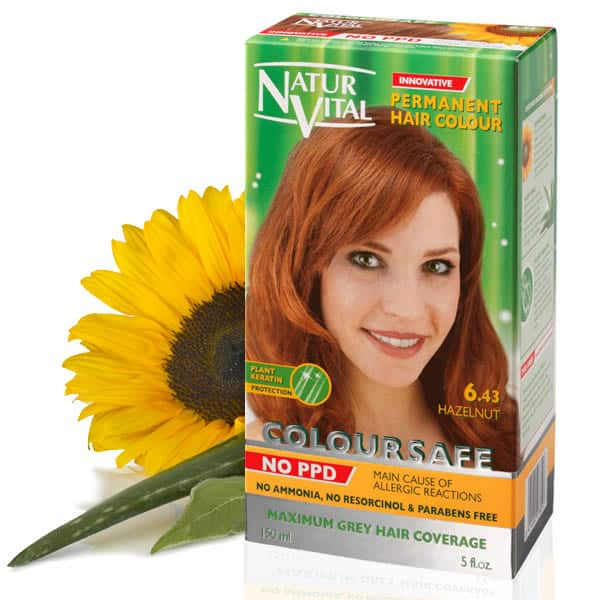 Ppd Free Hair Dye Naturvital Coloursafe Hazelnut No 6 43