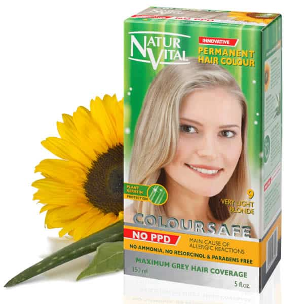 Coloursafe Ppd Free Very Light Golden Blonde No 9 Naturvital Hair