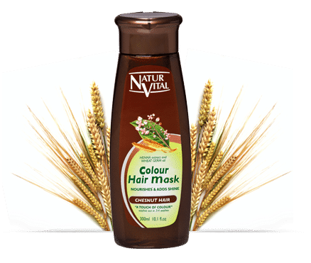 Natur VItal Colour Hair Mask CHESTNUT - NaturVital Hair Care Products. NaturesWell UK - Ireland - Colour Boost your hair in 5 Minutes