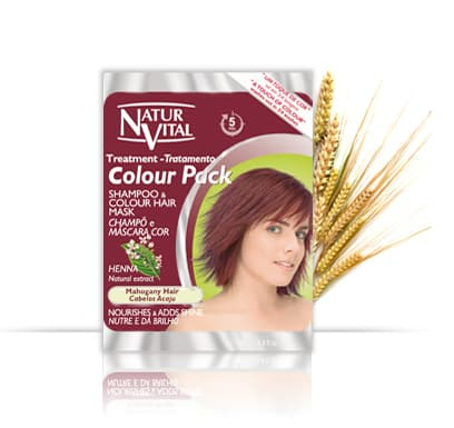 NaturVital Colour Pack MAHOGANY - NaturVital Hair Care Products. NaturesWell UK - Ireland - A deep Mahogany colour that covers grey hair
