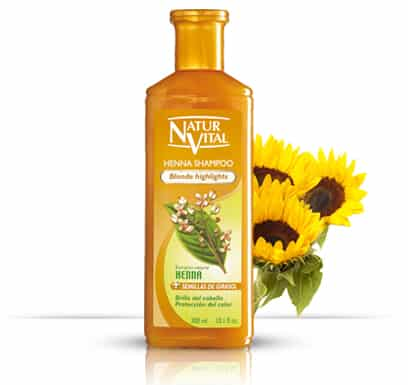 Henna Shampoo for coloured hair BLONDE - NaturVital Hair Care Products. NaturesWell UK - Ireland