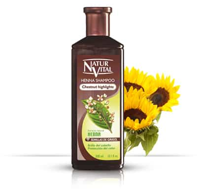 Henna Shampoo for coloured hair CHESTNUT - NaturVital Hair Care Products. NaturesWell UK - Ireland