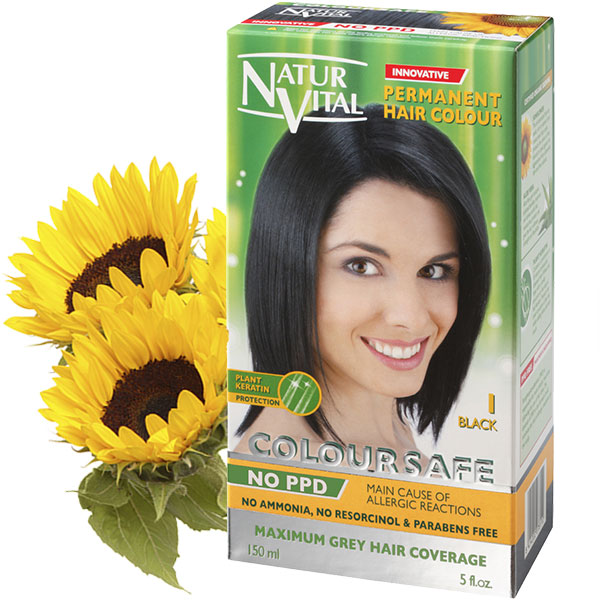 PPD Free ColourSafe Black No. 1 Hair Dye – NaturVital