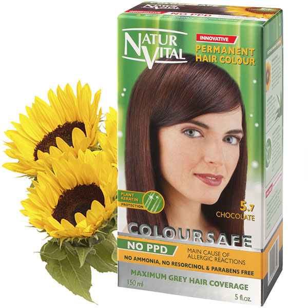 Ppd Free Coloursafe Chocolate No 57 Hair Dye Naturvital