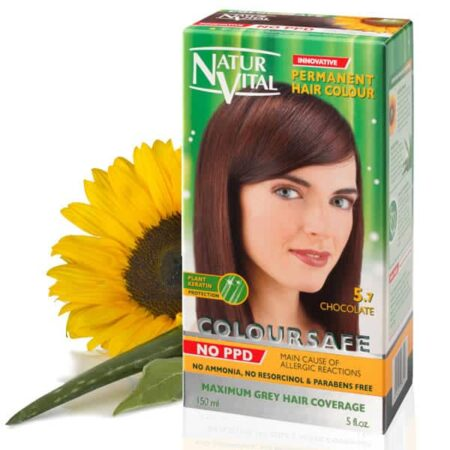 Chocolate dark brown hair dye, ppd free dark brown hair color, no ppd dark brown hair color - Naturvital Coloursafe PPD Free hair dye dark brown No. 1, no ammonia, no parabens - NaturVital Hair Care Products. NaturesWell UK - Ireland - Coloursafe Chestnut No 4, UK's 1st permanent Hair Dyes,(P-Phenylenediamine) PPD free hair color, NO Ammonia, NO Parabens. Best natural hair care.