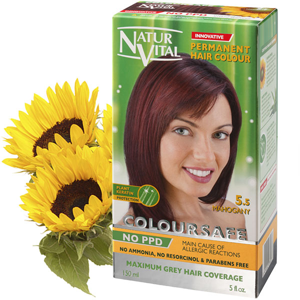 Ppd Free Coloursafe Mahogany No 55 Hair Dye Naturvital