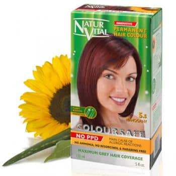 mahogany dark red hair dye, ppd free mahogany dark red hair color, no ppd mahogany dark red hair color - Naturvital Coloursafe PPD Free hair dye Mahogany No. 5.5 no ammonia, no parabens - NaturVital Hair Care Products. NaturesWell UK - Ireland - Coloursafe Mahogany No. 5.5, UK's 1st permanent Hair Dyes,(P-Phenylenediamine) PPD free hair color, NO Ammonia, NO Parabens. Best natural hair care.