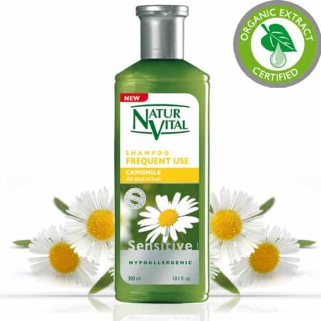 - Sensitive Shampoo Frequent Use - NaturVital Hair Care Products. NaturesWell UK - Ireland - Hypoallergenic shampoo strengthens and protects hair naturally. Clarifies the hair, protects the scalp and contains soothing properties. It is especially suitable for fragile or blond hair. Contains no dyes, silicones, parabens preservatives or mineral oils. Bio Extract Certified.                   SUITABLE FOR VEGANS