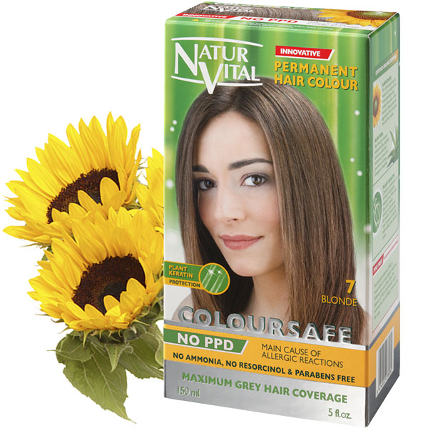 PPD Free ColourSafe Blonde No. 7 Hair Dye | NaturVital